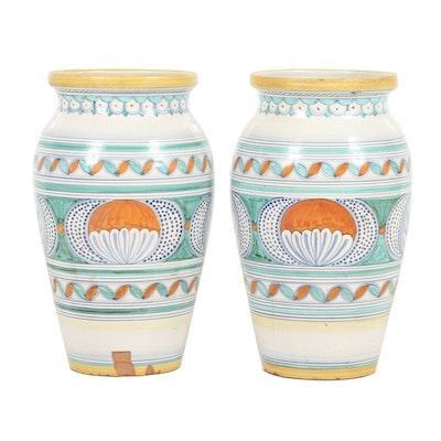 Pair of Italian Ceramic Planter Vases