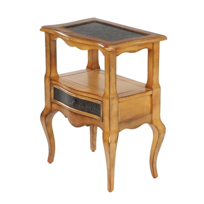 Transitional Colonial Style Side Table, Late 20th Century