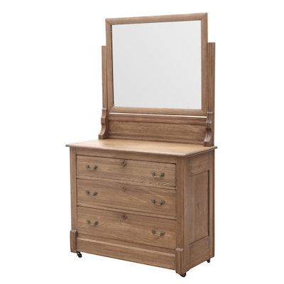 Late Victorian Walnut Dresser with Mirror