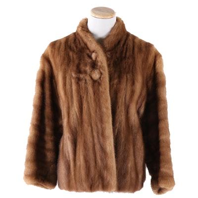 Pastel Mink Fur Jacket, Vintage