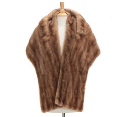 Mink Fur Stole from Donenfeld's, 1950s Vintage