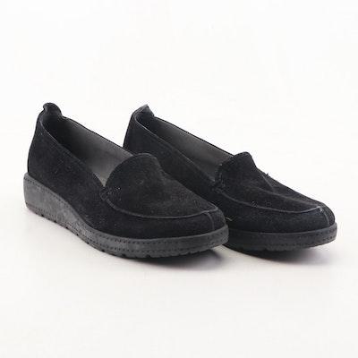 Stuart Weitzman Black Suede Loafers