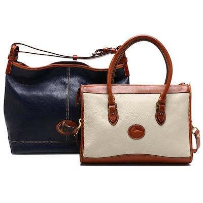 Dooney & Bourke Leather Shoulder Bag and Convertible Handbag
