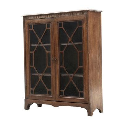 Chippendale Style Mahogany Bookcase, Circa 1940s