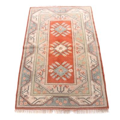 Hand-Knotted Turkish Heriz Wool Rug