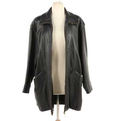 Colebrook & Co. for Koslow's Black Leather Jacket