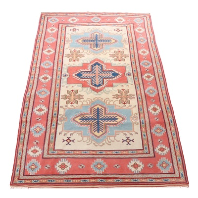 Hand-Knotted Turkish Heriz Wool Rug