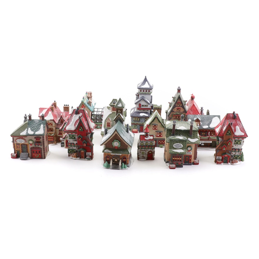 "Department 56 ""North Pole Series"" Hand Painted Porcelain Houses"