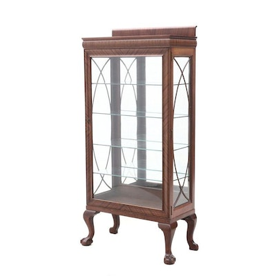 Colonial-Revival Mahogany China Cabinet, Early 20th Century