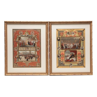 Lithographs of Queen Victoria's Coronation and Wedding