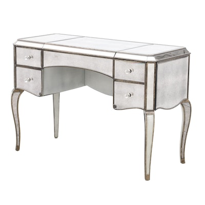 Hollywood Regency Style Mirrored Desk, Contemporary