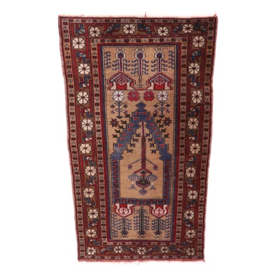 Hand-Knotted Turkish Baluch Wool Rug