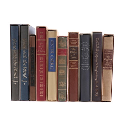 "Heritage Press Classic Books, including ""Gone With the Wind"" and ""The Prairie"""