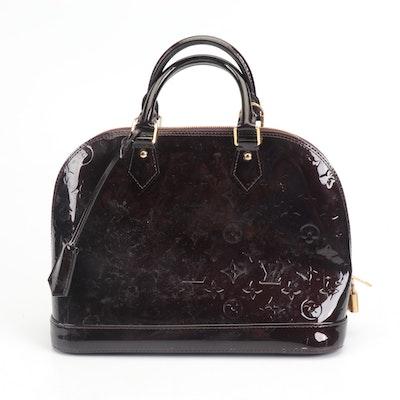 Louis Vuitton Paris Amarante Vernis Leather Alma Doctor's Bag