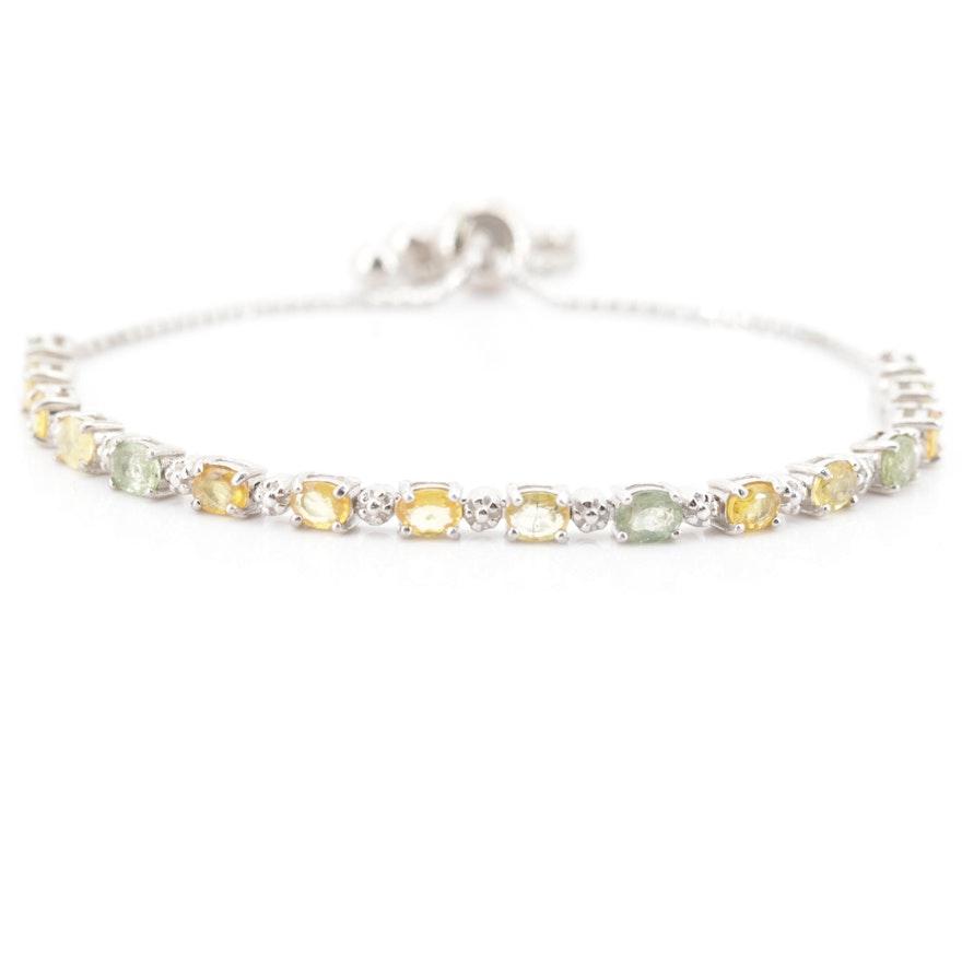 Sterling Silver Sapphire Bracelet