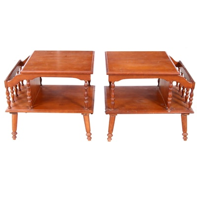 Mid Century Modern End Tables, Pair