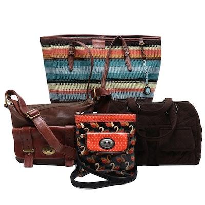 The Sak Woven Tote Bag, Fossil Crossbody Bags and Vera Wang Handbag