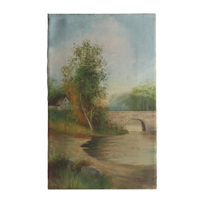 M. Tracey Landscape Oil Painting