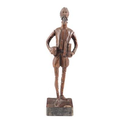 """Ouro Artesania Carved Wood Figurine """"Don Quixote"""""""