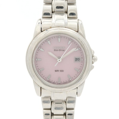 Citizen Eco-Drive Stainless Steel Wristwatch With Date