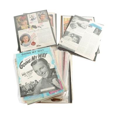 Mid Century Sheet Music and Advertising Memorabilia