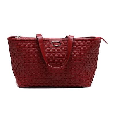 O by Oscar de la Renta Leather Tote Bag