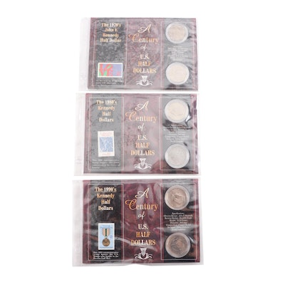 "Morgan Mint ""Century of Half Dollars"" Kennedy Half Dollar and Stamp Sets"