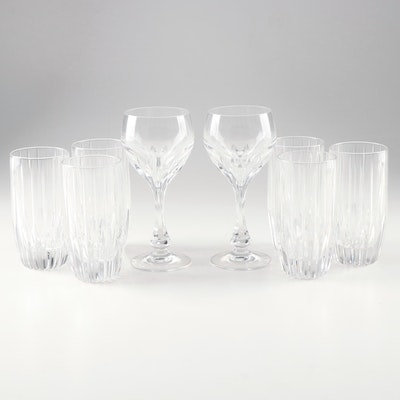 "Mikasa ""Park Lane"" Crystal Highball Tumblers and Wine Glasses"