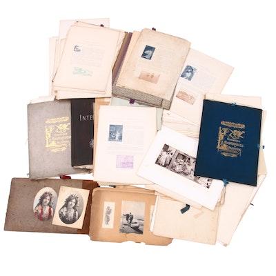 "Boxed Lot of Paper Ephemera, including Silver Gelatin Photo Album ""Hawaii"""