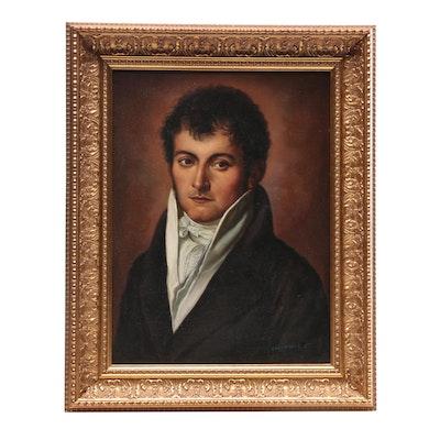 Fernandez C. Portrait Oil Painting of Young Gentleman