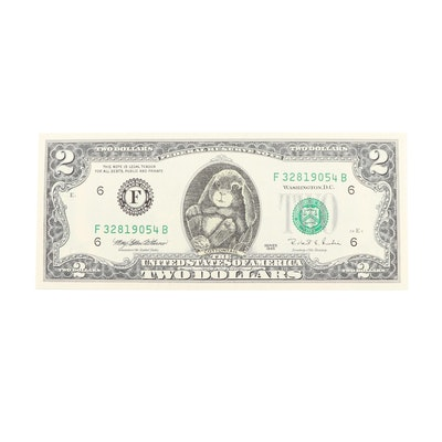 """Series 1995 """"Cottontail"""" $2 Federal Reserve Note"""
