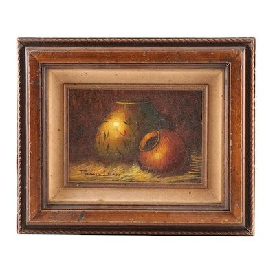 Frank Lean Still Life Oil Painting