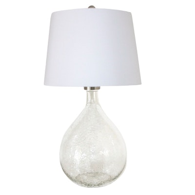 Contemporary Textured Glass Table Lamp