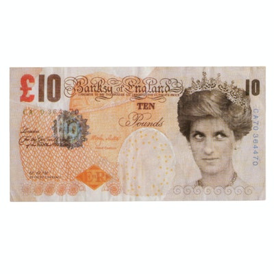 "Offset Lithograph after Banksy ""Di-Faced Tenner"""