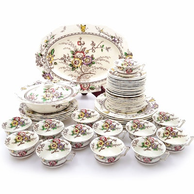 "Meakin ""Medway"" Dinnerware with Serving Pieces"
