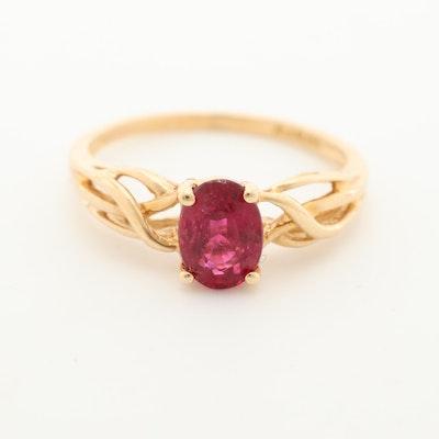 14K Yellow Gold Tourmaline Ring