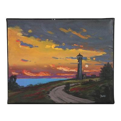 "Douglas ""Bumo"" Johnpeer Oil Painting ""Spotlight"""
