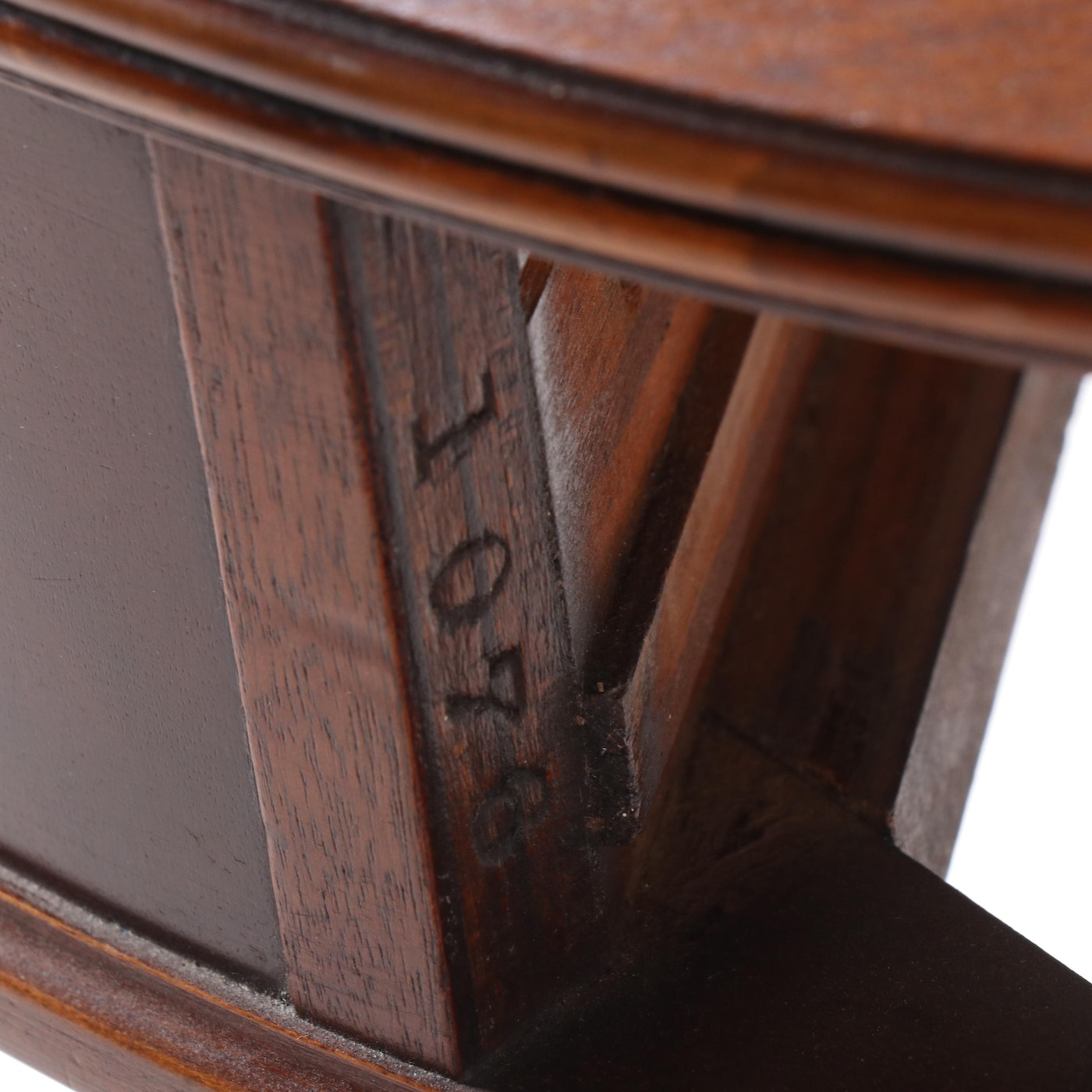 Duncan Phyfe Style Mahogany Center Drum Table By Imperial