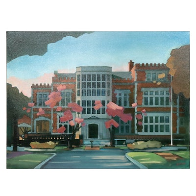Justin Lee Shaver Jeffrey Mansion Oil Painting