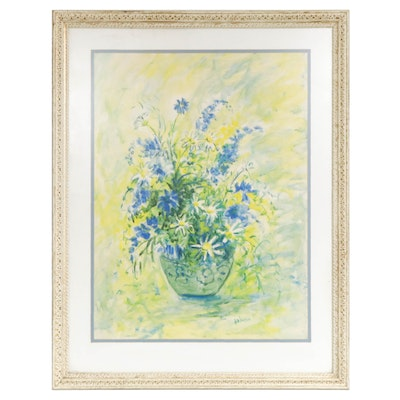 Thelma Walter Floral Still Life Watercolor Painting