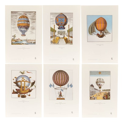 Hot Air Balloon Themed Offset Lithographs
