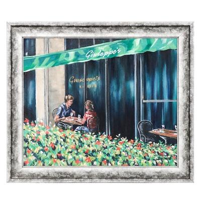 "Beverly A. Darwin Oil Painting ""Al Fresco"""
