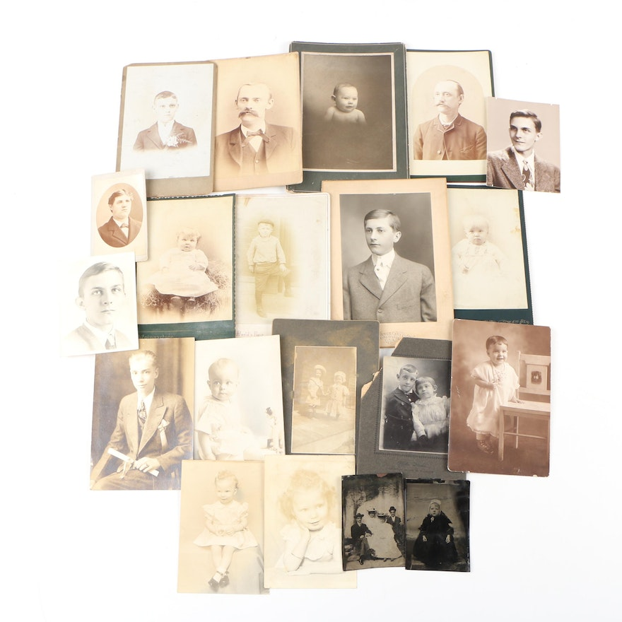Tintype, Albumen, and Silver Gelatin Portraits, Late 19th to Mid-Century