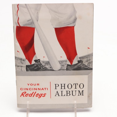 1957 Cincinnati Redlegs Sohio Service Stations Players Photo Album