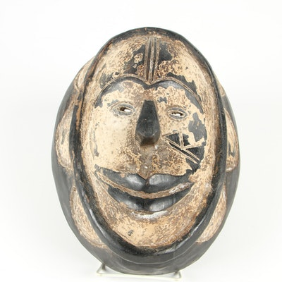 Central African Fang Style Hand-Carved Wooden Mask
