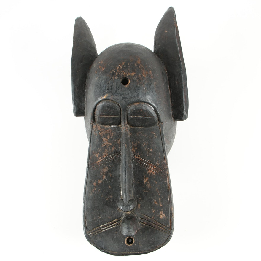 Wooden Senufo Style Mask