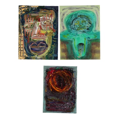 Merle Rosen 2009-2007 Abstract Acrylic Paintings