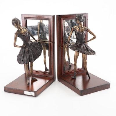 Maitland-Smith Brass Ballerina Bookends, Contemporary