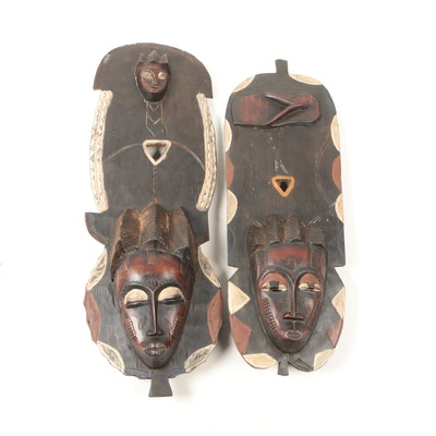 Decorative Wooden Baule Style Masks