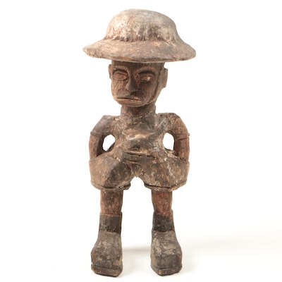 Wooden West African Colonial Style Figure
